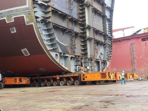 STX shipyard. Как строят корабли .Вот это техника Жесть !