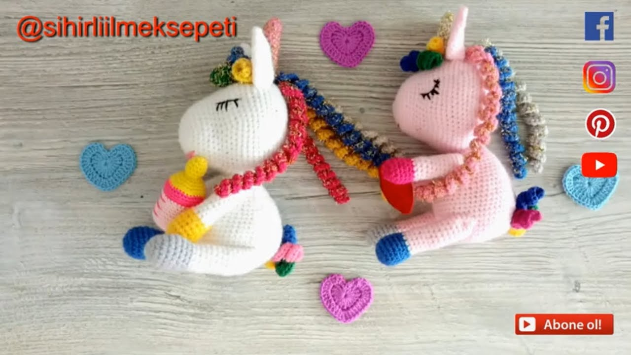#amigurumi pony unicorn en kolay nasıl yapılır?#organik yünden örgü pony yapımı #DIY #how to make?