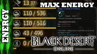 Black Desert Online - Quick Guide - How to Raise your Max Energy