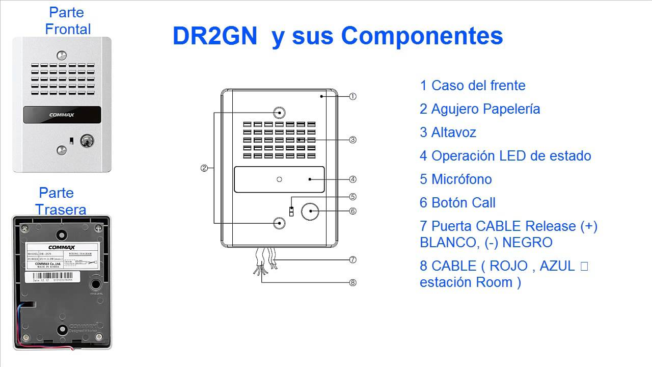 Commax Adp2sdr2gn Youtube Genway Intercom Wiring Diagram