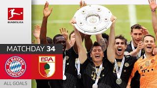 Lewy Record & Bayern Trophy Lift! | FC Bayern München - FC Augsburg | 5-2 | All Goals | MD 34