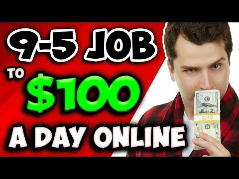 How to: 9-5 Job to Make $100 Per Day Online (Income Stream Stacking)