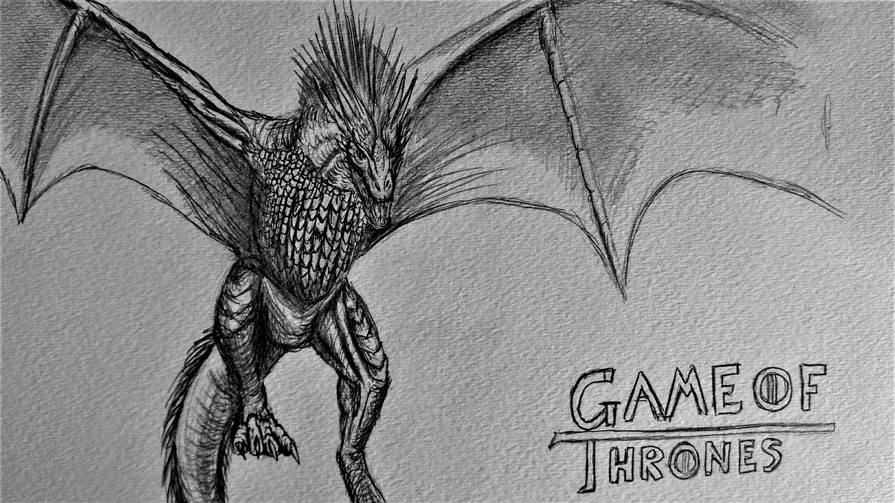 Dragon Drawing Game Of Thrones