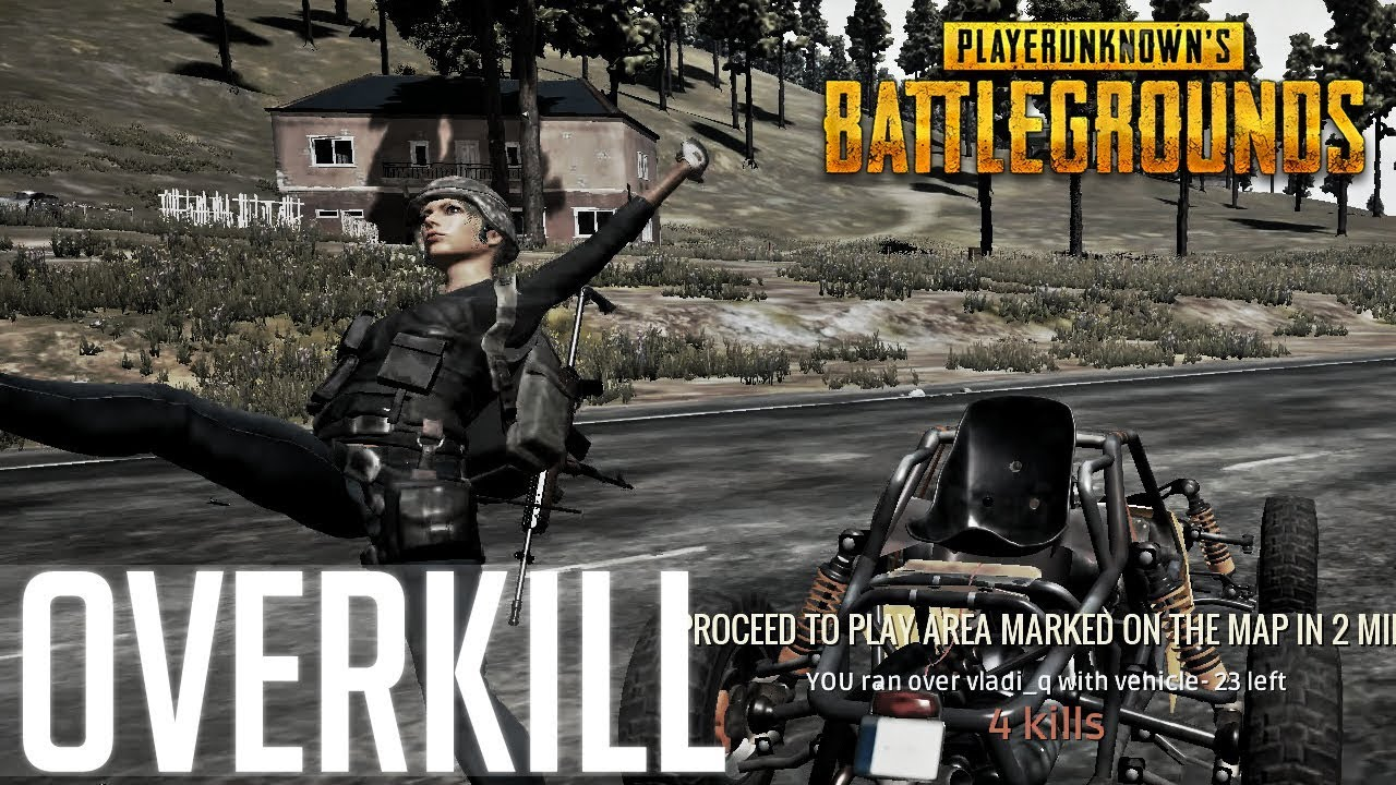PLAYING WITH NO SOUND! OVERKILL – GHOST CAR GLITCH | PlayerUnknown's Battlegrounds