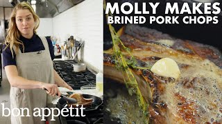 Molly Makes Pan-Roasted Brined Pork Chops | From the Test Kitchen | Bon Appétit thumbnail