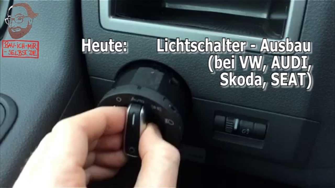 Lichtschalter ausbauen: VW, AUDI, Skoda, SEAT - YouTube
