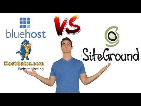 Bluehost vs HostGator vs. SiteGround – Best Host for WordPress/ Woocommerce