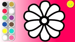 🌼Drawing Flowers Coloring Pages For Kids