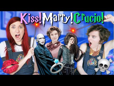 KISS, MARRY, CRUCIO! (Harry Potter Kiss/Marry/Kill) ft. Tessa Netting