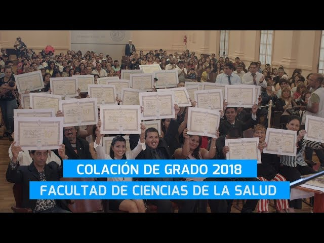 COLACIÓN DE GRADO CIENCIAS DE LA SALUD