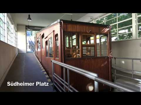 Standseilbahn (Funicular Railway) Stuttgart, Baden-Württemberg, Germany - 7th August, 2017
