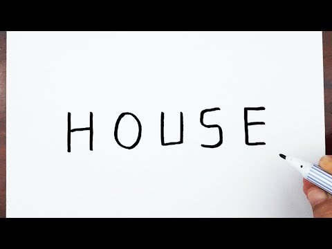 how-to-draw-a-house-using-the-word-house---art-on-paper