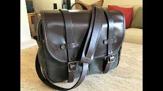The Vermilyea Pelle Field Bag in 37oz. Canvas/Horse Hide Chromexcel