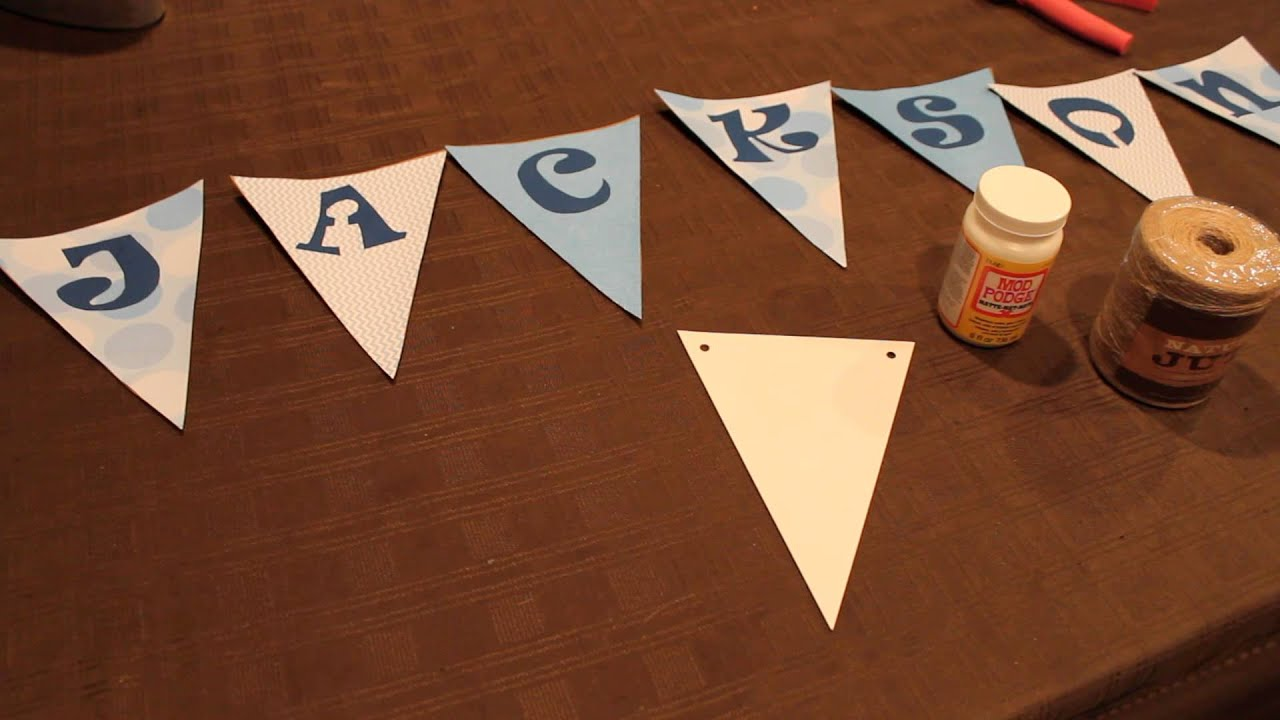 How To Make A Pennant Banner Youtube