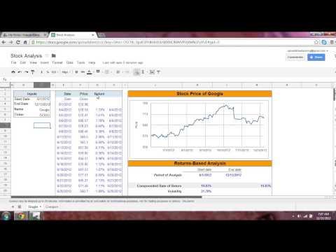 Spreadsheet Stock Analysis