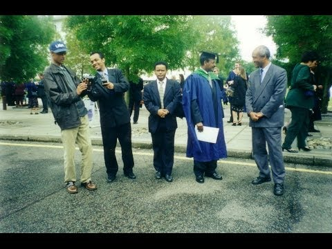 Kefale Alemu on His Graduation at UEA. Recorded by His Friends but Edited and uploaded by himself