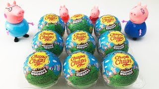 Surprise Eggs Chupa Chups Peppa Pig 9 Chupa Chups Surprise Eggs Unboxing Video for Kids