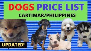 Dog PRICE LIST Philippines | Cartimar Pet Shops (2020)