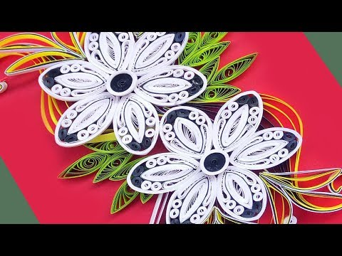 paper-art-|-how-to-make-beautiful-quilling-flowers-design-birthday-card|-paper-quilling-art