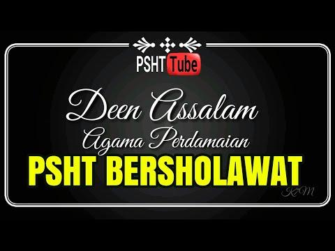 PSHT BERSHOLAWAT - DEEN ASSALAM LIRIK DAN ARTINYA (ARAB & INDONESIA)