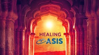 174Hz 》 HEALING OASIS 》Helps in Pain Relief Naturally 》Indian String Music + Rain Sounds