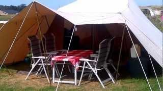 Een rondleiding door tent Pinocchio op camping Stortemelk op Vlieland