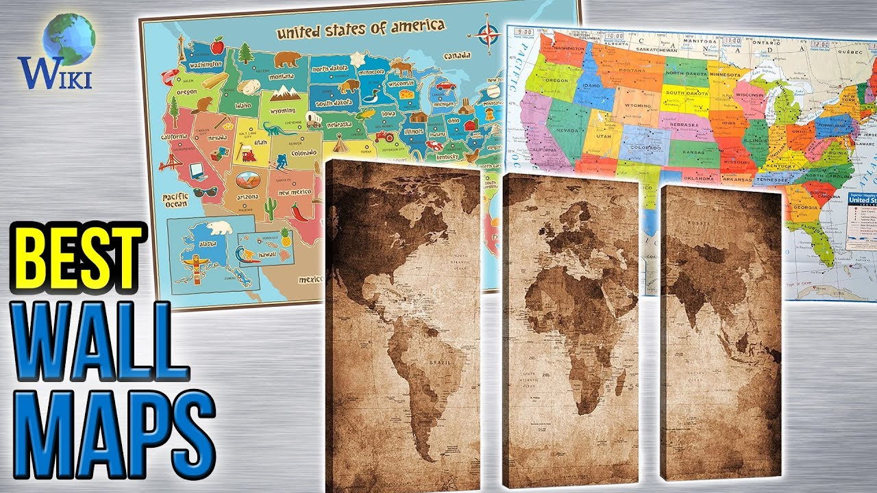 Best Wall Maps YouTube - Best us wall map