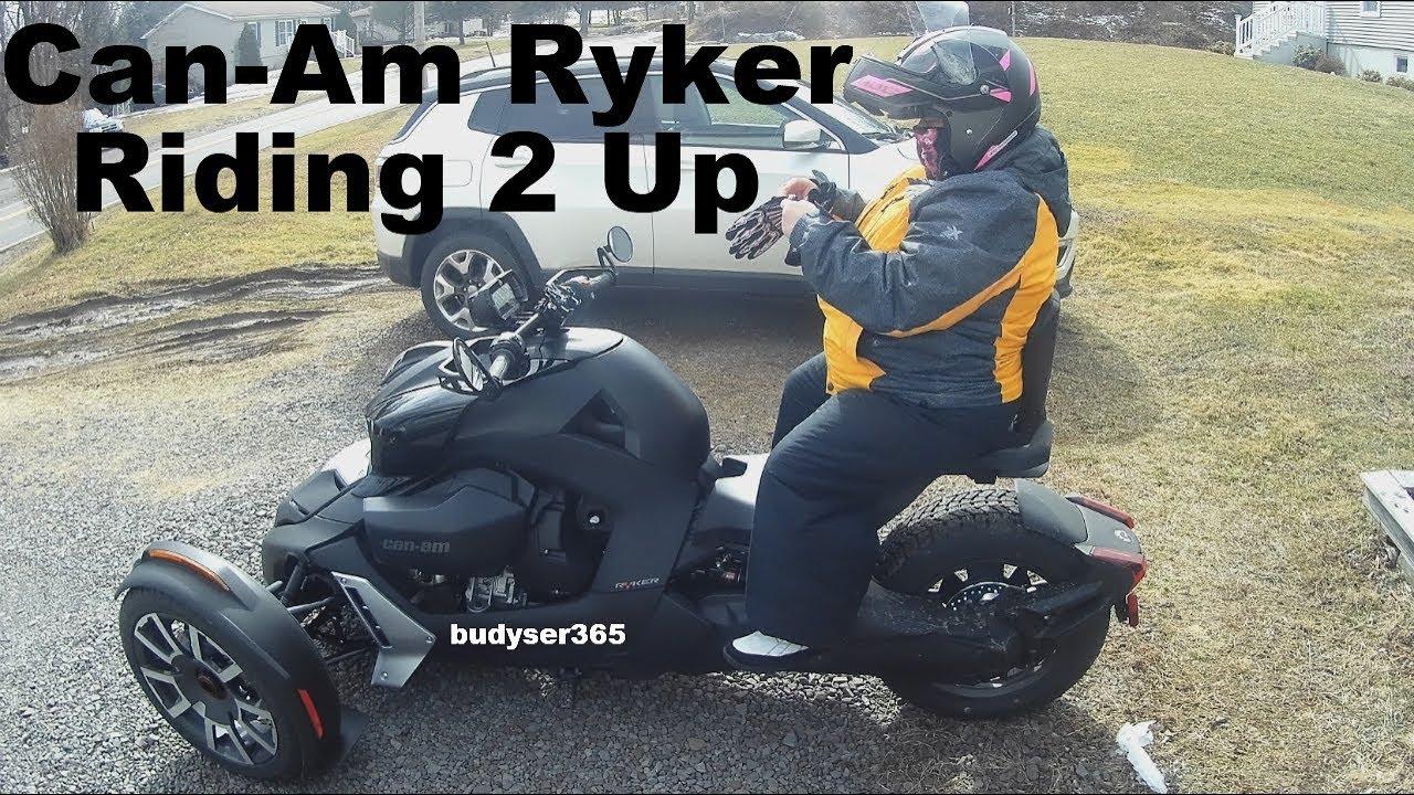 Can-Am Ryker - Riding 2 Up At Max Weight Capacity