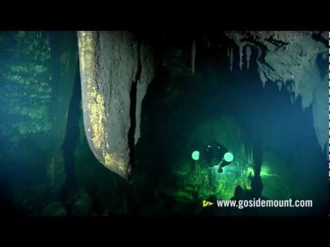 The real Sanctum - Side Mount Cave Diving in a pitch black cave