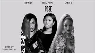 Rihanna - Pose ft. Nicki Minaj & Cardi B (Audio)