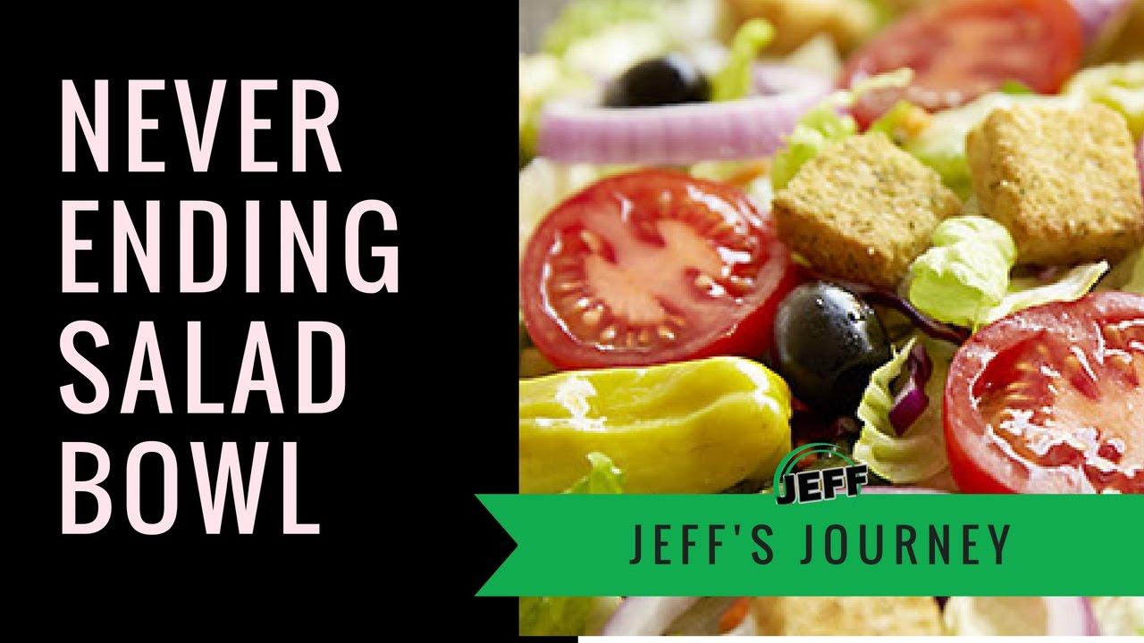 2 Guys Vs Never Ending Pasta Salad Bowl At The Olive Garden Youtube
