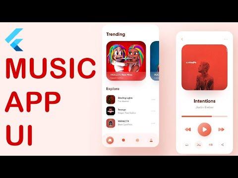 Flutter Minimalist Music UI From Scratch