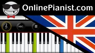 UK National Anthem - God Save the Queen - Piano Tutorial & Sheets