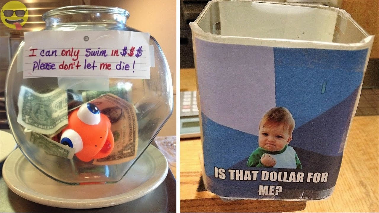 Creative And Clever Tip Jars To Increase Tips Youtube
