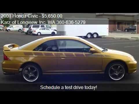 2001 Honda Civic EX-PKG, 2-DOOR - for sale in Longview, WA 9