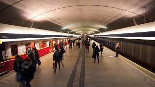 Poland, Warsaw, metro ride from Kabaty to Pole Mokotowskie, 1X escalator