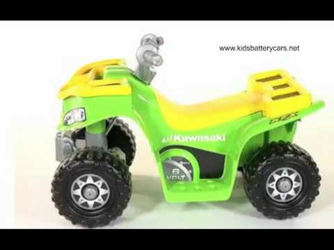 Power Wheels Kawasaki Sports Quad - YouTube