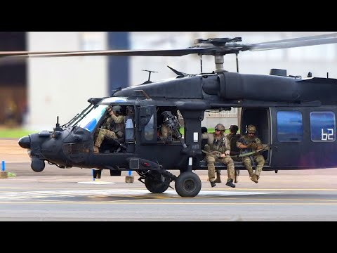 US Army UH-60 Black Hawk Helicopters In Brasilia