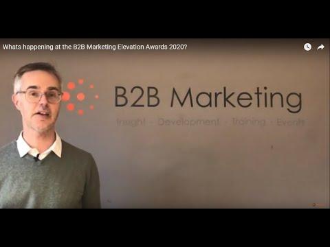 Whats Happening At The B2B Marketing Elevation Awards 2020?