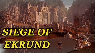 The Epic Siege Of Ekrund - Amazing Custom Map Battle  | Warhammer Total War Gameplay