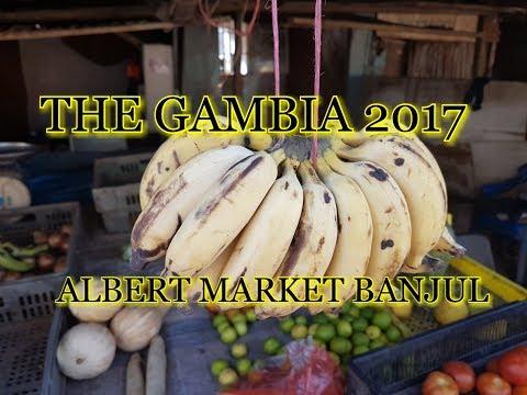 Gambia 2017. Albert market banjul. filmed using sjcam sj6 legend action camera