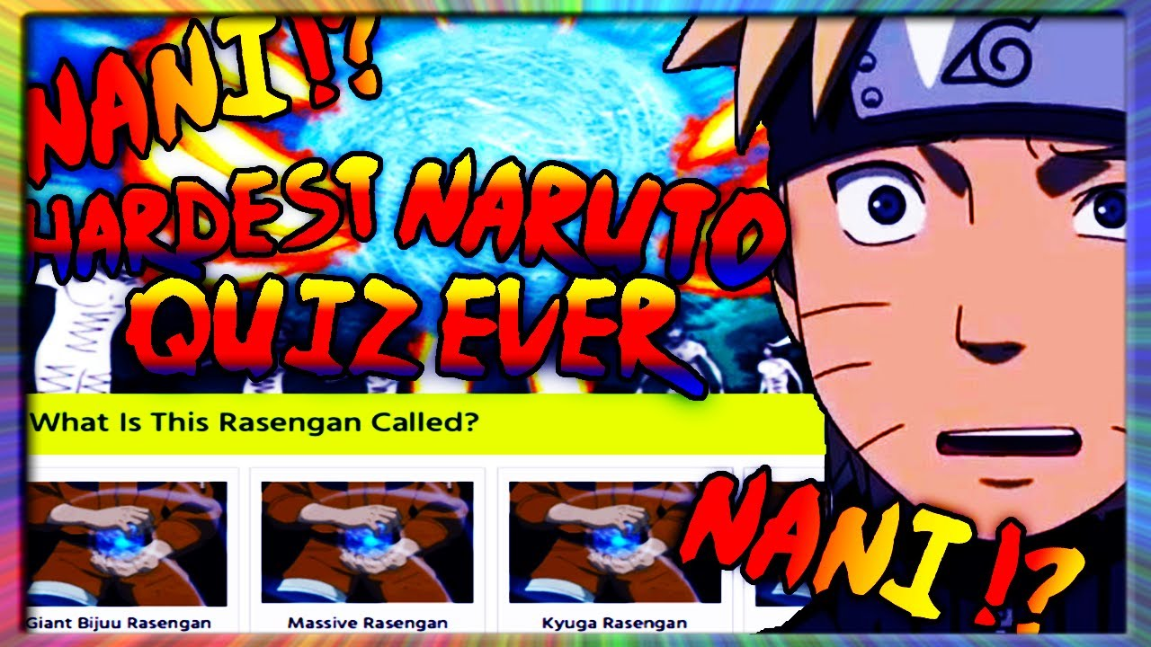 HARDEST NARUTO QUIZ EVER!? CAN YOU BEAT MY SCORE??
