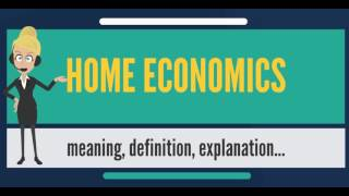 What is HOME ECONOMICS? What does HOME ECONOMICS mean? HOME ECONOMICS meaning & explanation