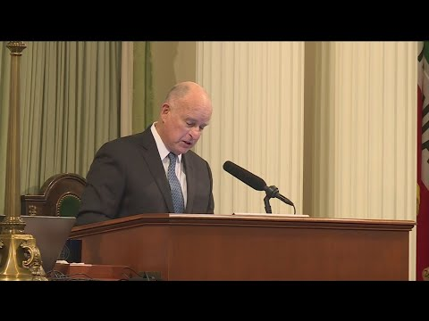 Gov. Brown Defends Bullet Train, Delta Tunnels Project In Final 'State Of The State' Address