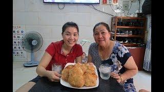 Vlog Ăn Vặt 31 ll Ngân Lần Đầu Làm Bánh Tiêu Mà Ngon Quá Xá