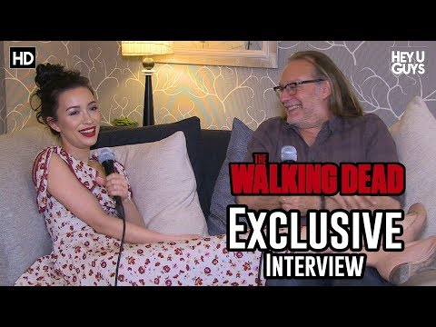 Greg Nicotero runner & Christian Serratos Rosita  The Walking Dead Season 8