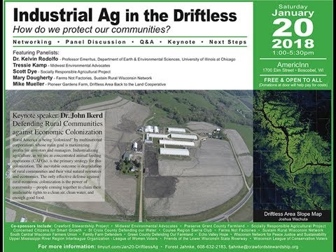Industrial Ag in the Driftless: How do we protect our communities?