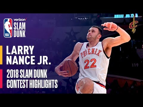 Larry Nance, Jr. ALL DUNKS from 2018 Verizon Slam Dunk Contest