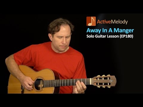 Away In A Manger Guitar Lesson  Bluesy Version  Christmas guitar lesson  EP180