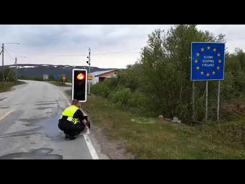 Border reopening under midnight sun in Lapland